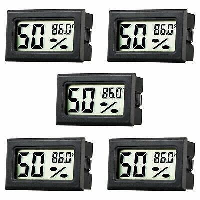 5 Pack Mini Thermometer Hygrometer Lcd Digital Temperature Humidity Detector