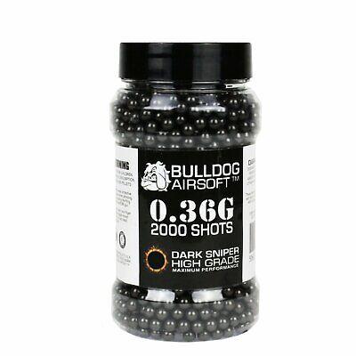 Bulldog [2000] Airsoft Pellet BB [0.36g] [6mm Black] Triple Polished Pro Grade