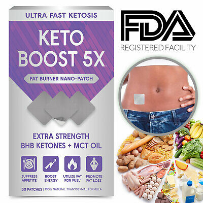 Keto Boost Ultra Fast Ketogenic Patch Go BHB Weight Loss Fat Burner 30 Patches