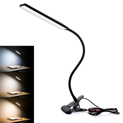 LED Clip-On Lamp USB Desk Bedside Table Reading Book Lamp LE