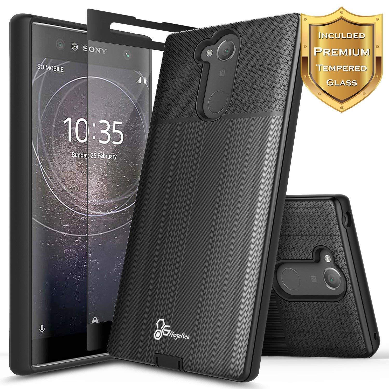 Sony Xperia XA1 XA2 Ultra / Xperia XA2   Shockproof Case Cover + Tempered Glass
