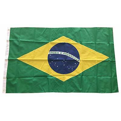 Brazil Flag 3×5 FT National Banner Polyester Country With Grommets Brazilian Décor