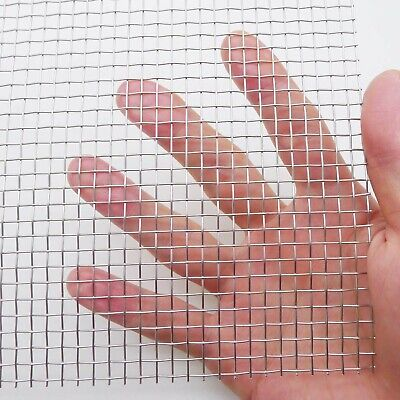 304 Stainless Steel Woven Wire Mesh - 5mesh 1roll- 11.8 X 23.6 Inch 30cmx60c...