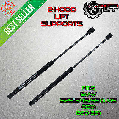 Lift Support Shocks For BMW 525i 525xi 528i Front Hood Gas Springs New Pair 2pc
