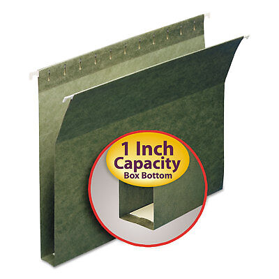 Smead 1 Capacity Box Bottom Hanging File Folders Letter Green 25box 64239