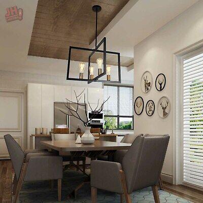 4-Light Industrial Kitchen Island Chandelier Pendant Lighting Ceiling Fixture US