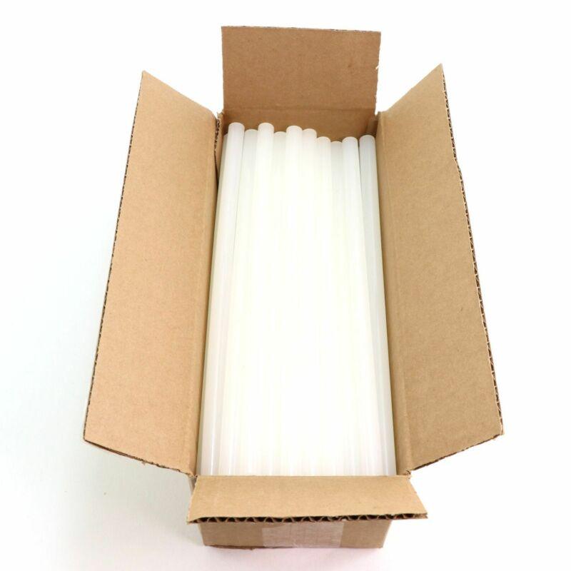 "725R510 Full Size 10"" Clear Hot Glue Stick - 5 lb Box - Approx. 90 Sticks"