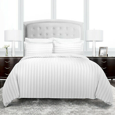 Hotel Collection Dobby Striped 3 Piece Duvet Cover Set by ienjoy Home
