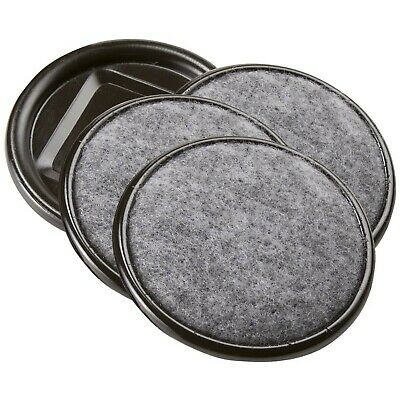 Furniture Caster Cups Round with Carpeted Bottom for Hard or Wood Floors