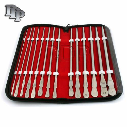 14 Pieces Set Of Dittel Urethral Sounds Gynecology Surgical Instruments