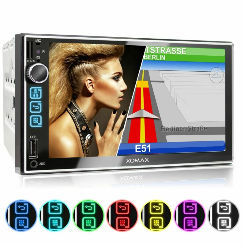 Navi GPS Autoradio Usb Sd Bluetooth 7Zoll Touch Monitor Mp3 Id3 WMA Mpeg4 B-Ware