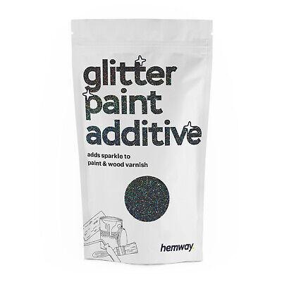 Hemway Negro Holográfico Purpurina Pintura Aditivo Cristales Para Emulsión Papel