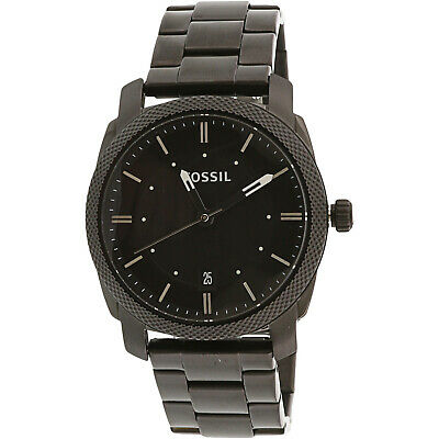Fossil Men's FS4775 Machine Black Stainless Steel Watch Mens Solid Titanium Bracelets