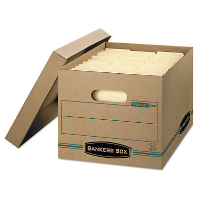 Bankers Box Storfile Storage Box Letterlegal Lift-off Lid Kraftgreen 12