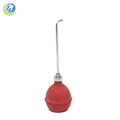 Dental Chip Blower Phenol Syringe With Chrome Point And Red Rubber Bulb Set