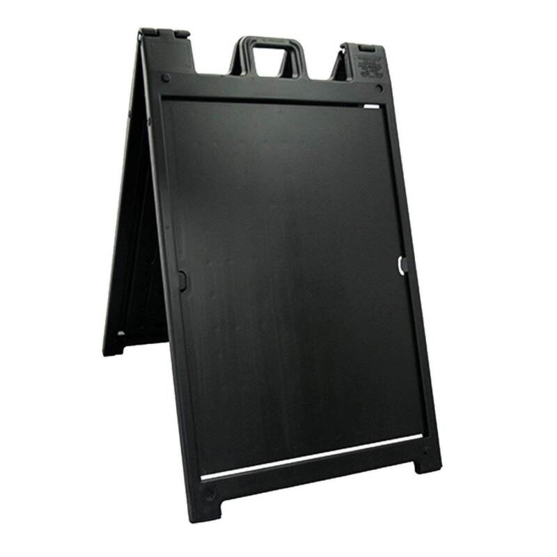 Plasticade Deluxe Signicade Portable Folding Double Sided Sign Stand, Black