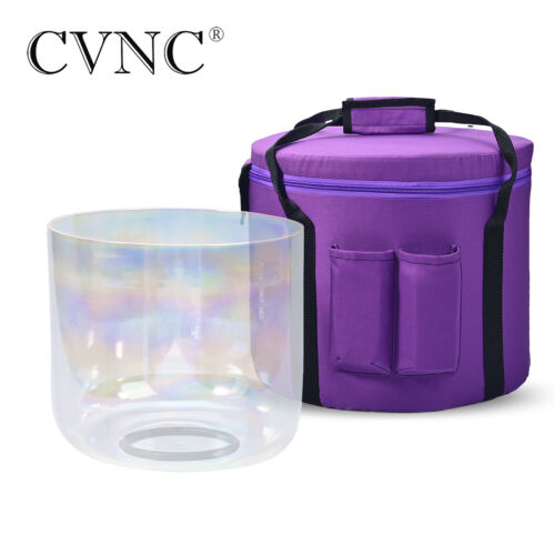 CVNC 7 inch A Third-eye Chakra Cosmic Light Clear Crystal Singing Bowl withCase