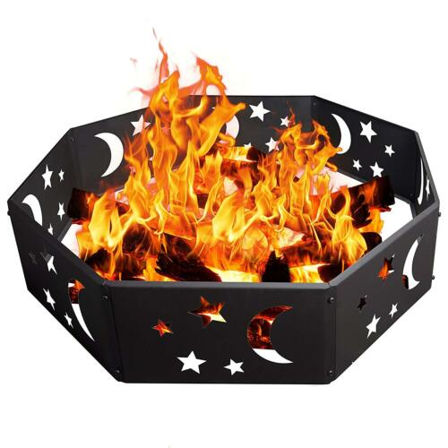 36 rustic stars and moons fire pit