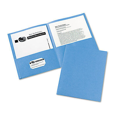 Avery Two-pocket Folder 40-sheet Capacity Light Blue 25box 47986