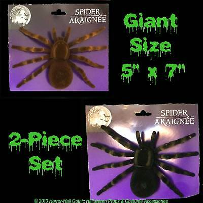 Realistic Flocked GIANT TARANTULA SPIDERS Scary Horror Halloween Prop Decoration - Giant Spider Prop