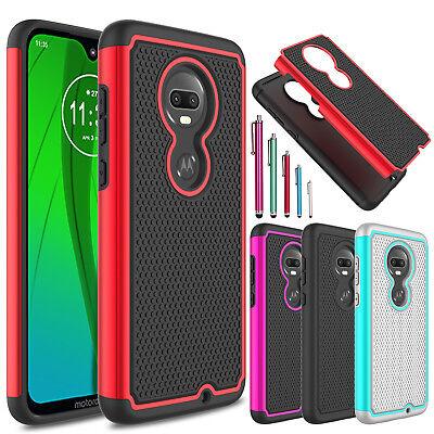 For Motorola Moto G7/Plus/Power/Supra/Play/Optimo Maxx Shockproof TPU Case Cover ()