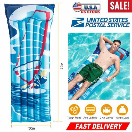 Swimline Inflatable SunSoft Hybrid Ride On Swimming Pool Flo