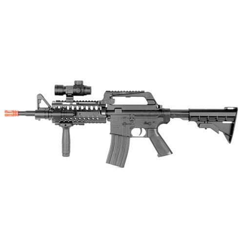 BBTac Airsoft Gun MR733 M4 RIS Spring Rifle Flashlight Scope