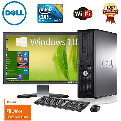 CLEARANCE!!! Fast Dell Desktop Computer PC Quad Core WINDOWS 10/7 LCD + KB + MS