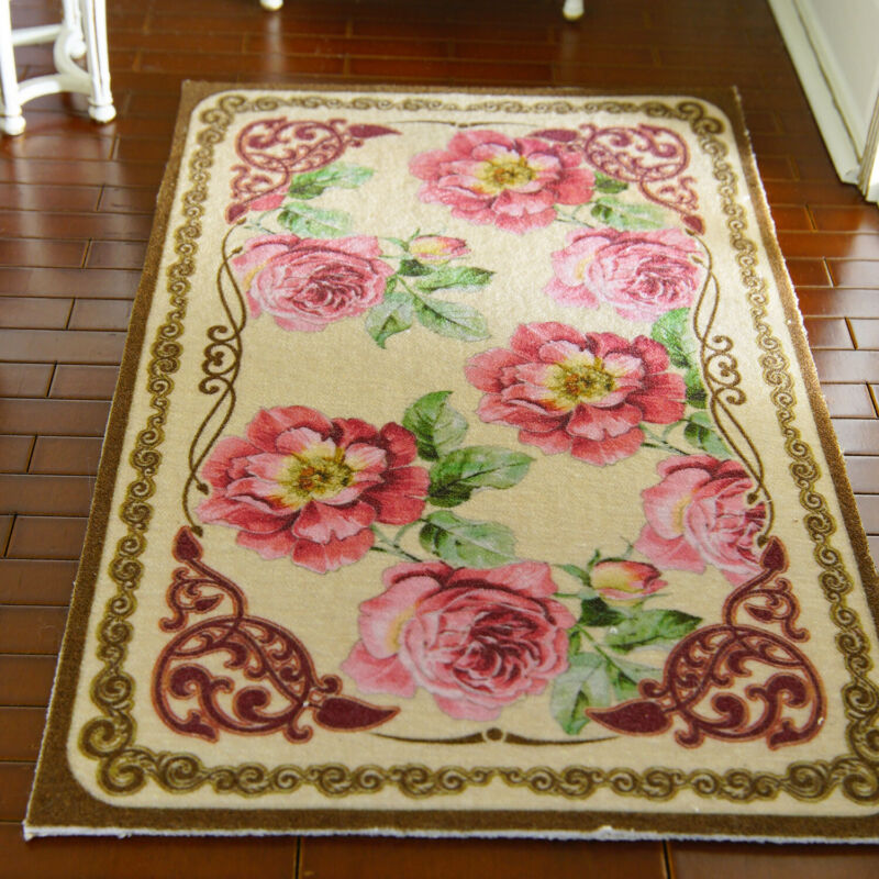 1/12 Scale French Country Nice Peony Bunches Dollhouse Rug