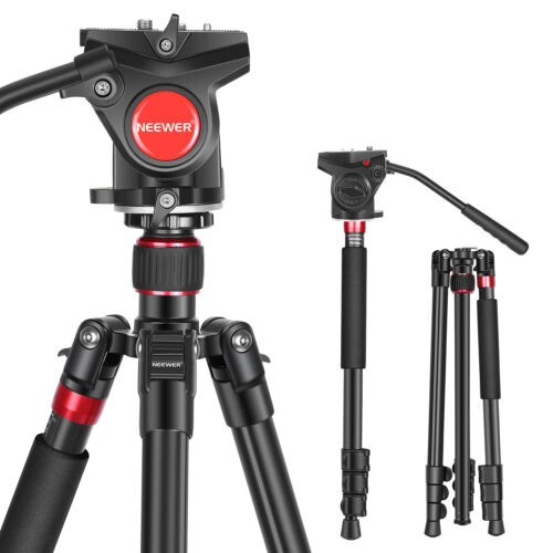 2-in-1 Aluminum Alloy Camera Tripod Monopod 70.8 inches with Carry Bag