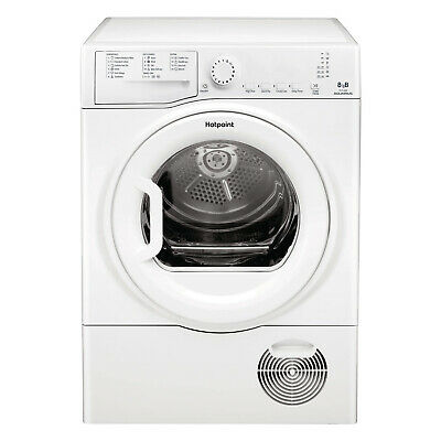 Hotpoint TCFS83BGPUK Condenser Dryer, 8 kg Drying Capacity - White