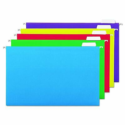 Universal 14221 Hanging File Folders 15 Tab 11 Point Legal Assorted Colors