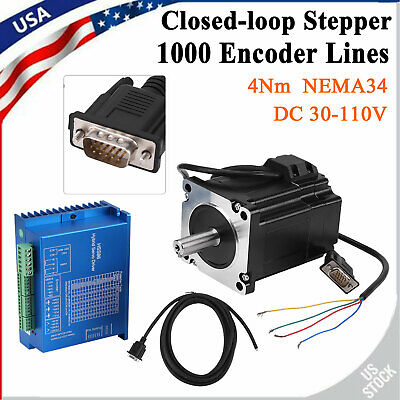 Hss86 Servo Driver Nema34 Closed-loop 4n.m Stepper Motor Kit 01000rpm