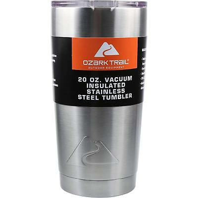 Hot Cold Ozark Trail 20 oz Camping Vacuum-Sealed Stainless Steel Travel Tumbler for sale  Shipping to South Africa