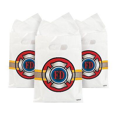 Plastic Fire Heroes Treat Bags (12 Pack) 7