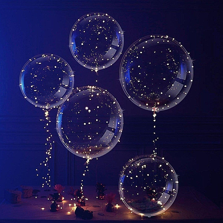LED Light UP Balloons Party Balloon Graduation Birthday Wedd