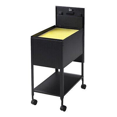 Rolling Filing Cart 1 Drawer Steel Lockable Metal File Cabinet Organizer Black Black Rolling File Cabinet