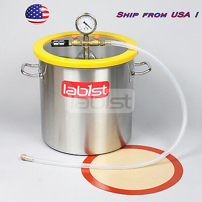 Vc30s 5 Gallon 5.5 Gal Stainless Steel Vacuum Degassing Chamber Ship From Usa