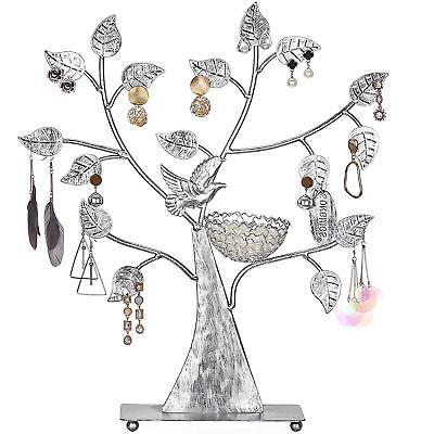 Songmics Expositor de pendientes anillos pulseras Soporte para joyería Diseño