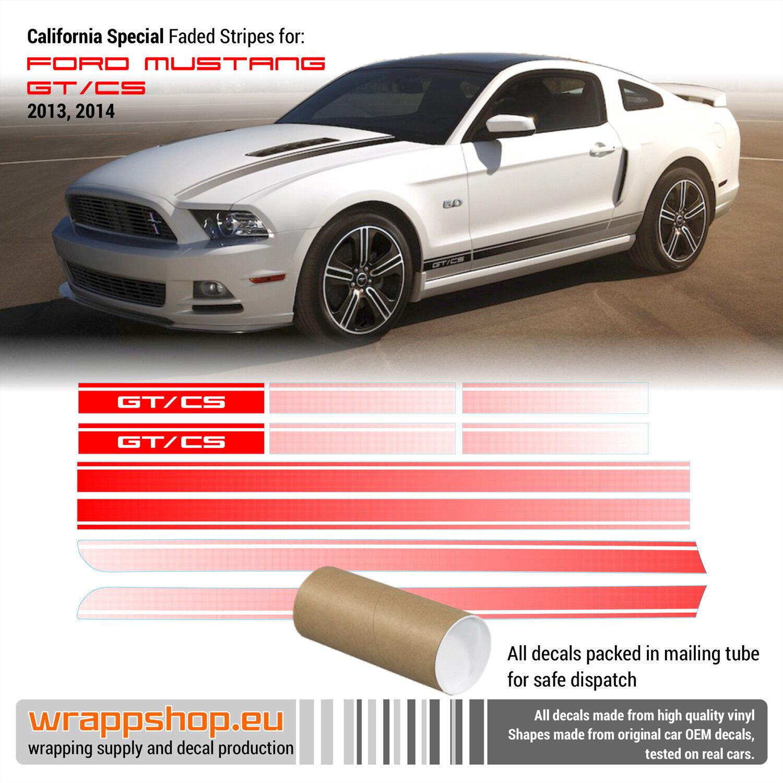 Details about California Special GT/CS Rocker Fade Stripes Vinyl Decal 2013  2014