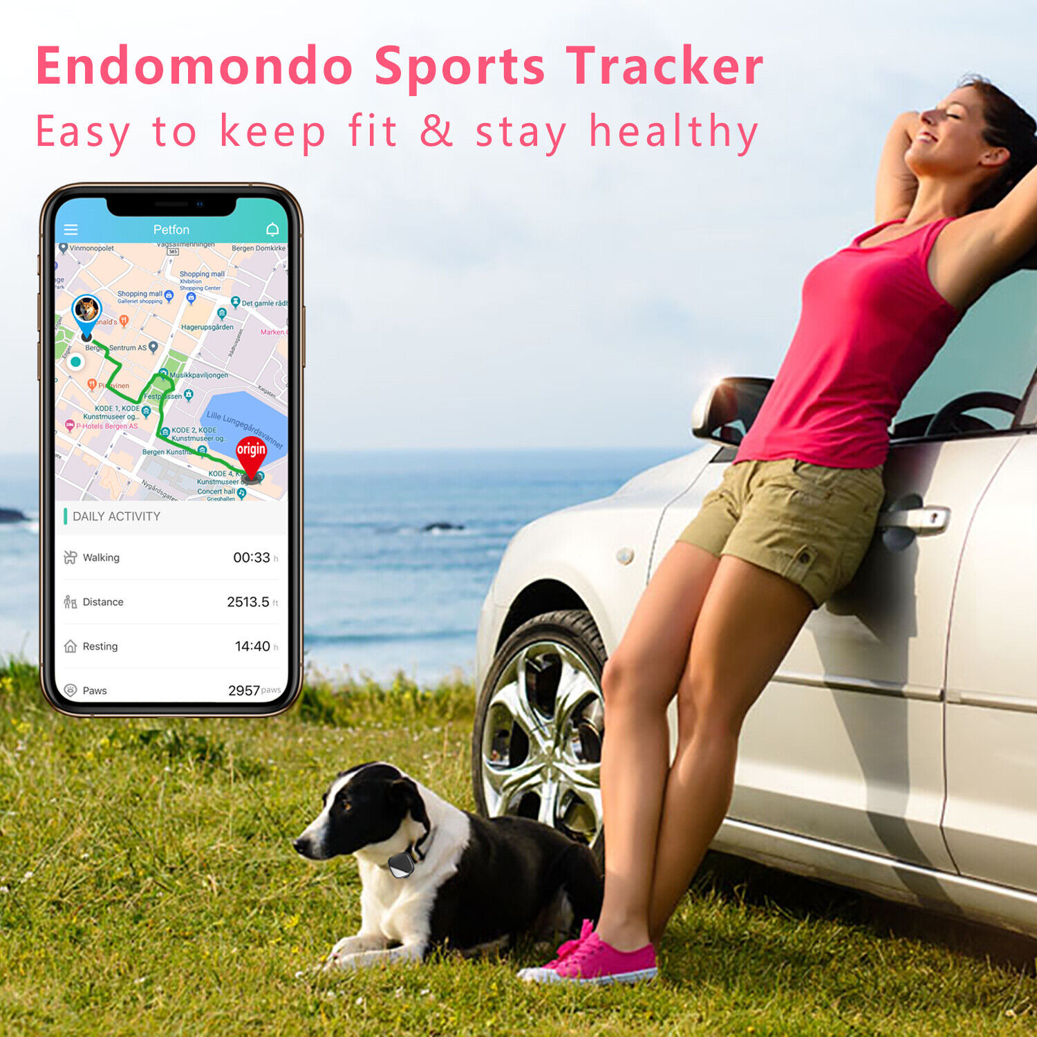 No Monthly Fee Mini GPS Tracker Pets Real-time Tracking Devices Activity Monitor - $99.99