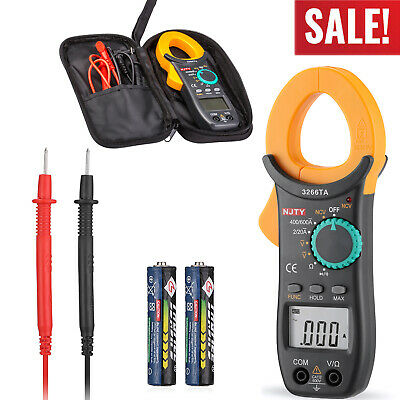 Digital Clamp Meter Tester Acdc 6000 Counts Multimeter Auto Range Current Trms
