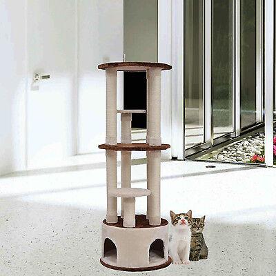 PawHut 61'' Cat Scratcher Tree Condo Perches Post Tower Furniture Pet House