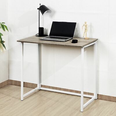 Folding Wooden Computer Foldable Study Table Laptop Home Office Writing PC Desk