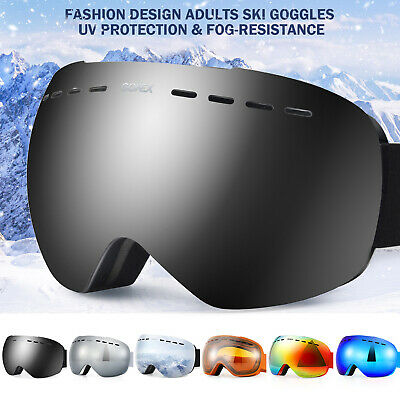Unisex Snow Ski Goggles Anti-fog UV400 Skiing Snowboard Skate Goggles Dual Lens