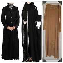 Turkish coat abaya, gilbab abaya.cream abaya