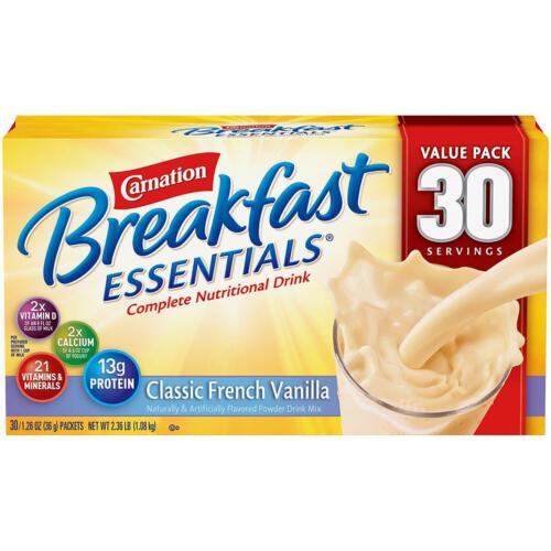 Carnation Breakfast Essentials Nutritional Drink Mix, Vanilla 30 ct. Mega Deal
