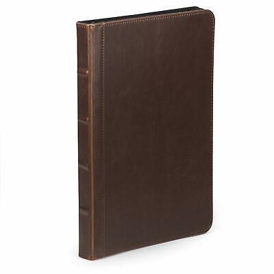 Samsill Vintage Portfoliozipper Faux Leather Portfolio Book Style Hardback Des