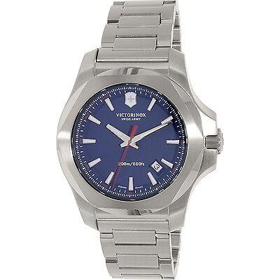 Swiss Army Victorinox 241724.1 Brand New INOX Stainless Steel Blue Dial Watch