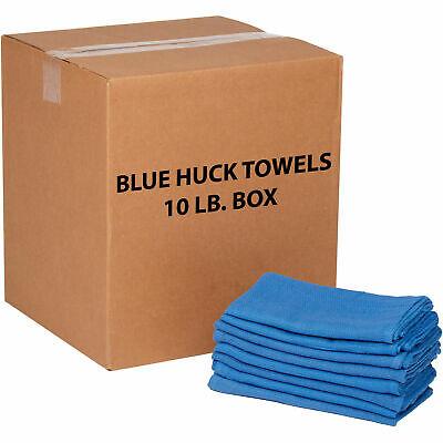 10 Lb. Box 100 Cotton Huck Towels Blue
